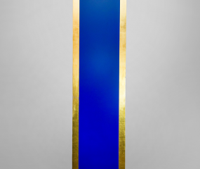 Blue & Gold Sculpture by Shelly Fireman