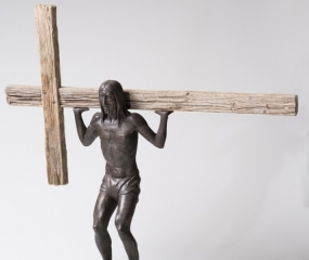 Cross Training with Jesus Abs Sculpture by Shelly Fireman