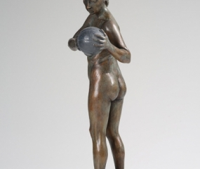 Girl With Medicine Ball Sculpture By Shelly Fireman