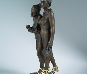 Just Friends Sculpture by Shelly Fireman