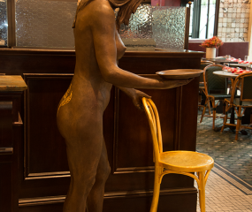 Miss Hospitality Sculpture by Shelly Fireman