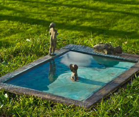 Poolside Sculpture by Shelly Fireman