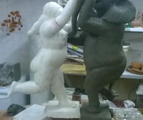 Dancing with Botero Sculpture in progress